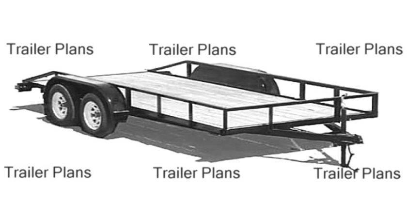 Trailer Plans Flatbed Tandem Utility