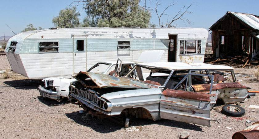 Trailer Trash Very Tortured Pair Cars Rest Near