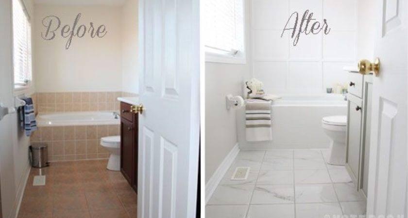 Transform Ugly Bathroom Diy Tile Painting