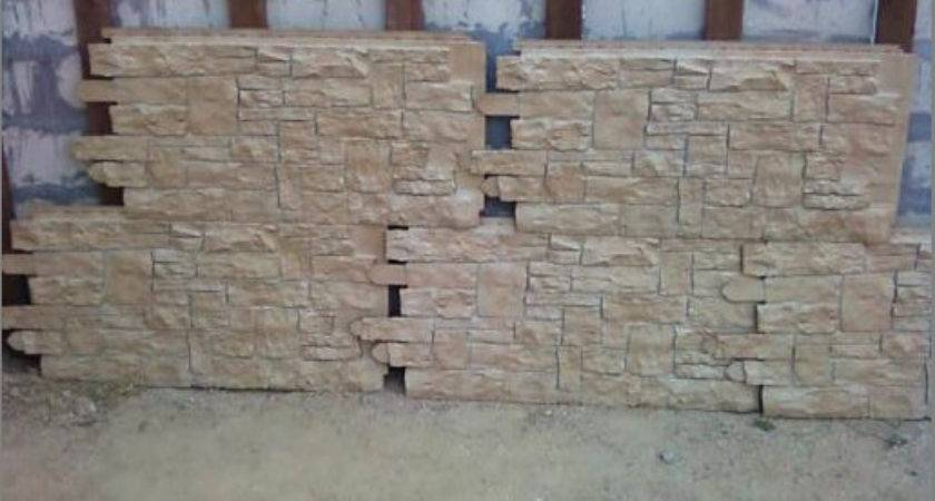 Transforming Ugly Cement Wall Creative Faux Panels