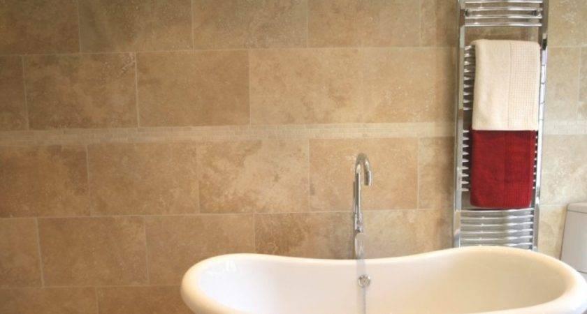 Travertine Tile Good Bathroom