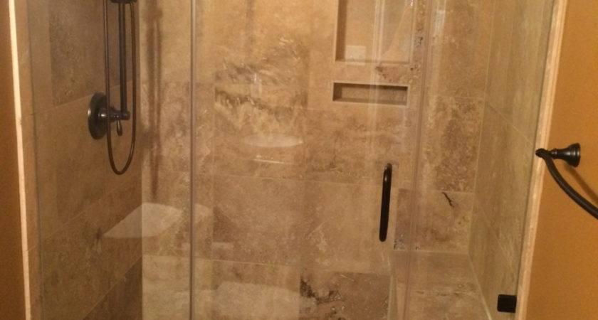 Travertine Tub Shower Conversion Bathroom Remodeling