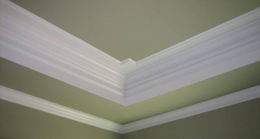 Tray Ceilings Crown Molding Painted