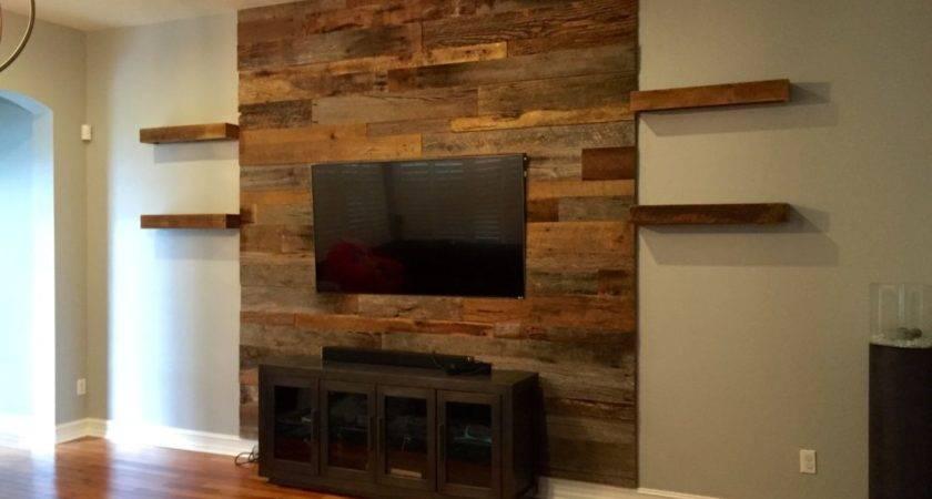 Trevor Reclaimed Barn Wood Accent Wall Shelving
