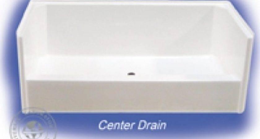 Triple Mobile Home Parts Services Shower Pan Wht