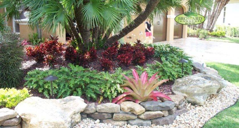 Tropical Front Yard Landscaping Ideas Palm Trees