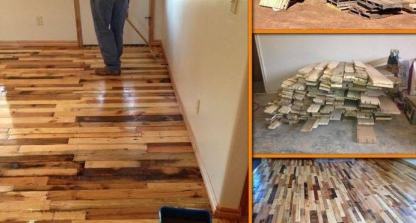 Turn Used Pallets Into Hardwood Floor Step