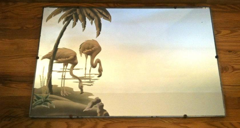 Turner Rare Wood Frame Silver Flamingo Mirror