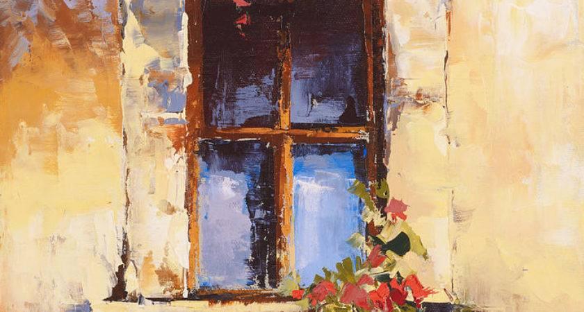 Tuscan Window Painting Maria Gibbs