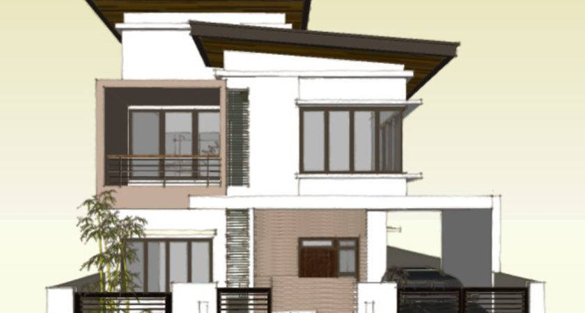 Two Storey Roof Deck House Plans