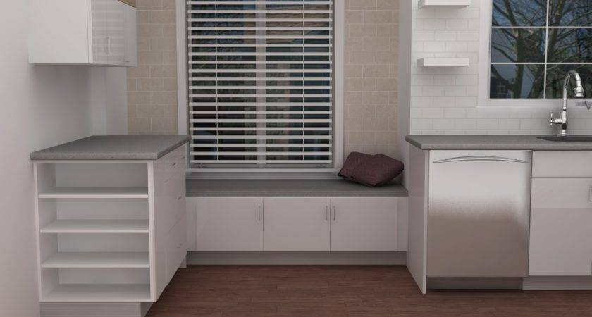 Under Kitchen Window Storage Door Seat Beside