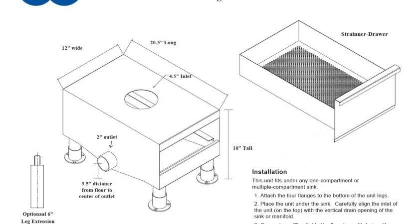 Under Sink Grease Trap Installation