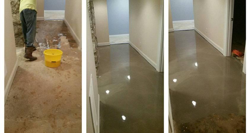 Uneven Basement Floor Self Leveled