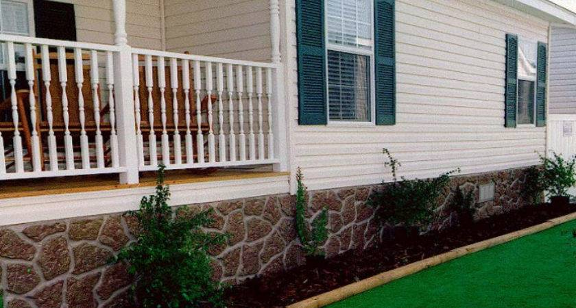 Unique Diy Mobile Home Skirting Ideas Wooden