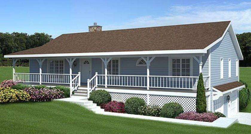 Unique Porch Plans Mobile Homes Ranch House