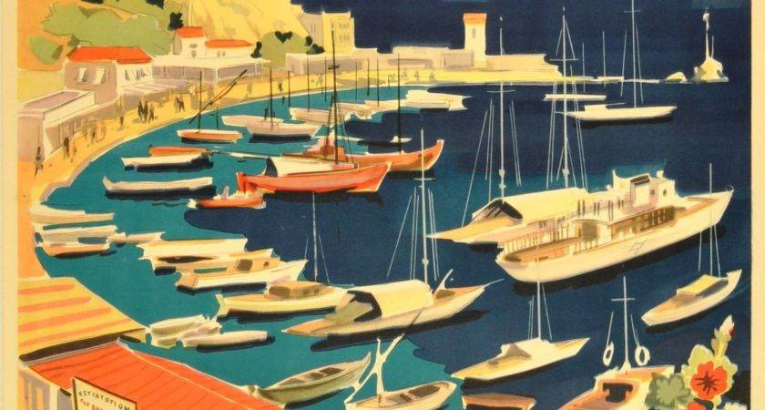 Unknown Original Vintage Travel Poster Greece Grece
