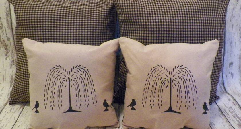 Unstuffed Primitive Pillow Cover Lot Matching Set Country