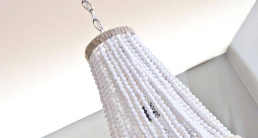 Upcycle Plain Chandelier Into Beaded Showpiece