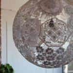 Upcycled Doily Lamp