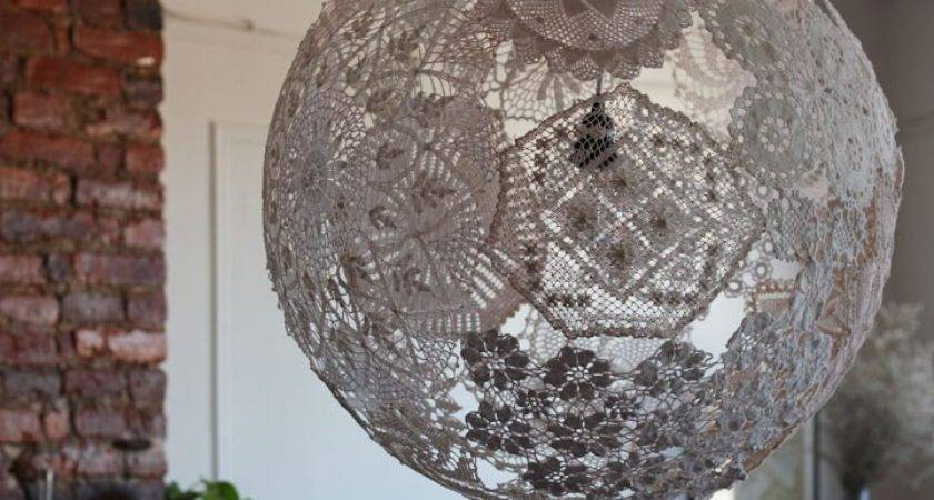 Upcycled Doily Lamp