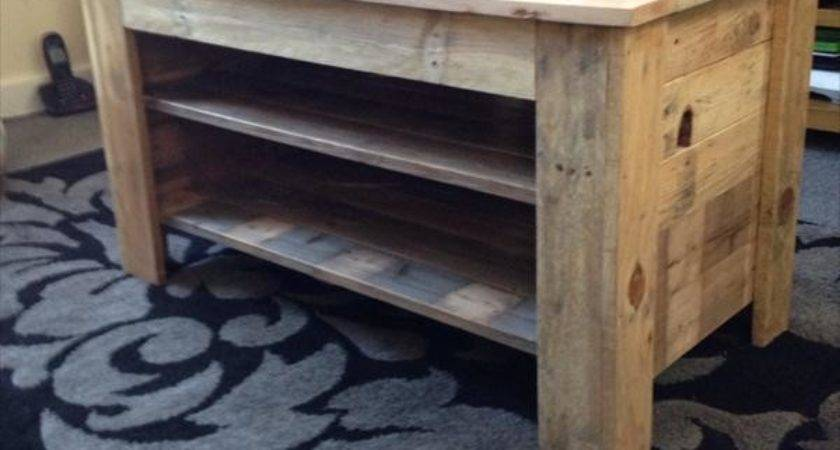 Upcycled Pallet Stand Console Table