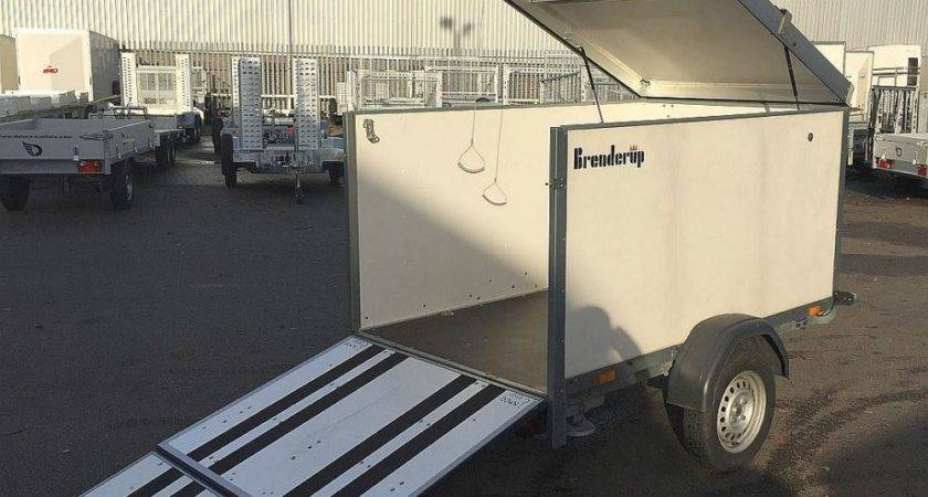 Used Brenderup Cargoliner Enclosed Trailer Many
