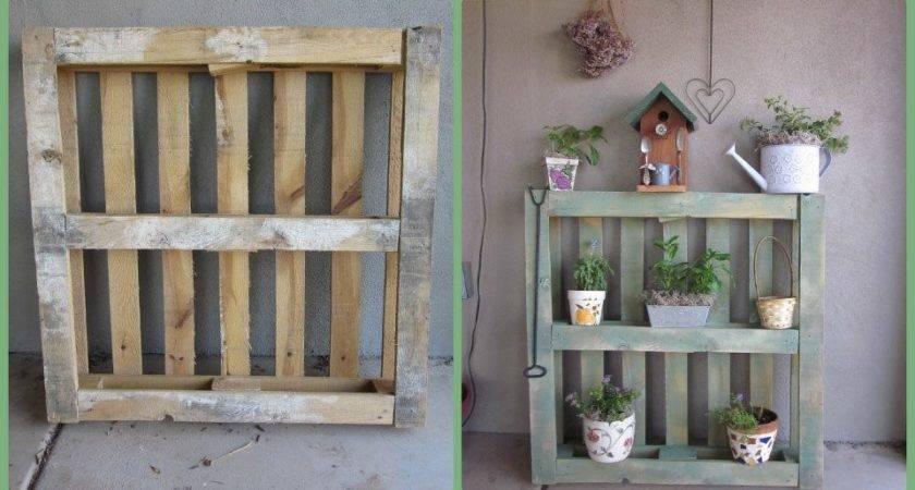 Using Ordinary Pallets Fantastic Garden Flea Market