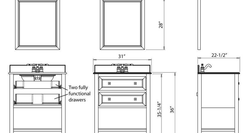 Vanity Ideas Inspiring Bathroom Sizes Chart