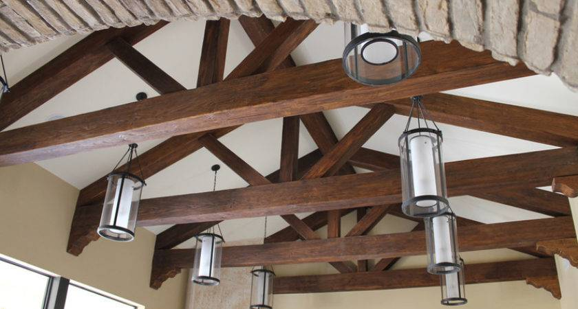 Vaulted Wood Beam Ceiling Decorative Trusses Faux