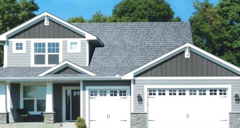 Vertical Vinyl Siding Looks Like Wood House