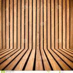 Vertical Wooden Strip Room Perspective