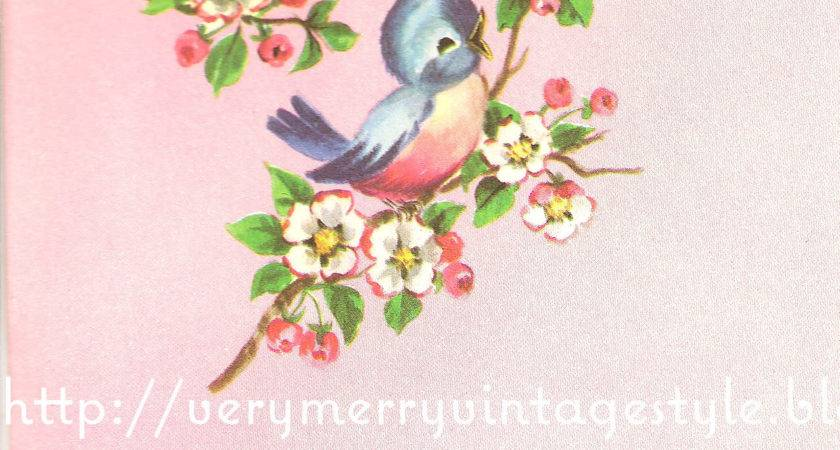 Very Merry Vintage Syle Bluebirds Angels