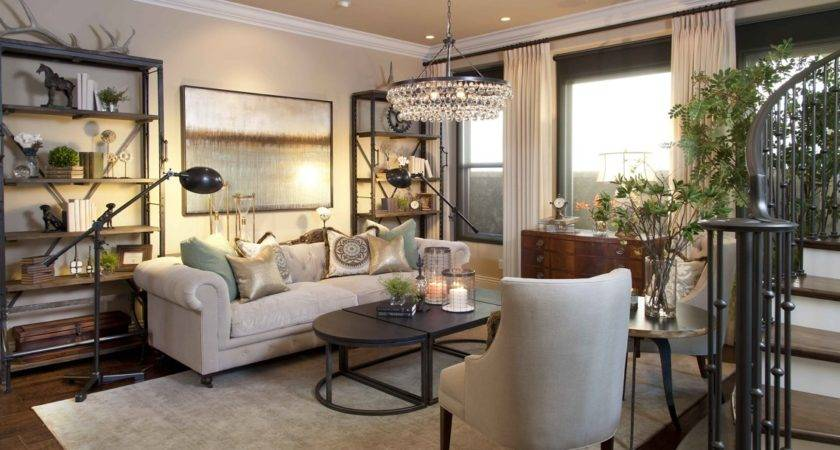 Vibrant Transitional Home Living Room Robeson