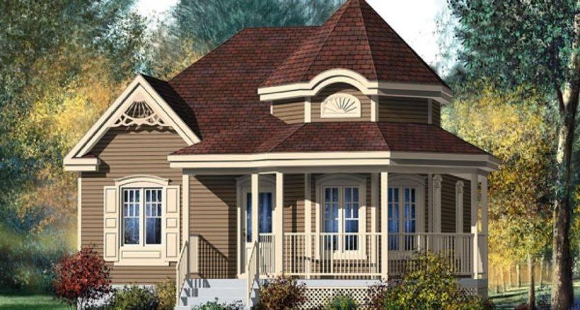 Victorian House Wrap Around Porch Small Style Design