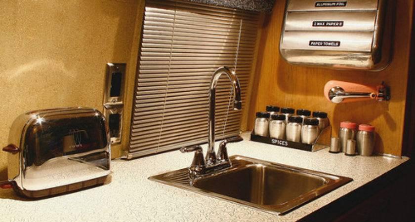 Vintage Airstream Interior Kitchen Flickr