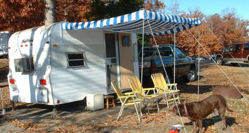 Vintage Awnings Many Trailer Have