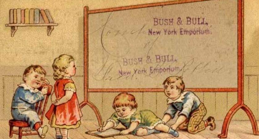 Vintage Back School Victorian Trade Card