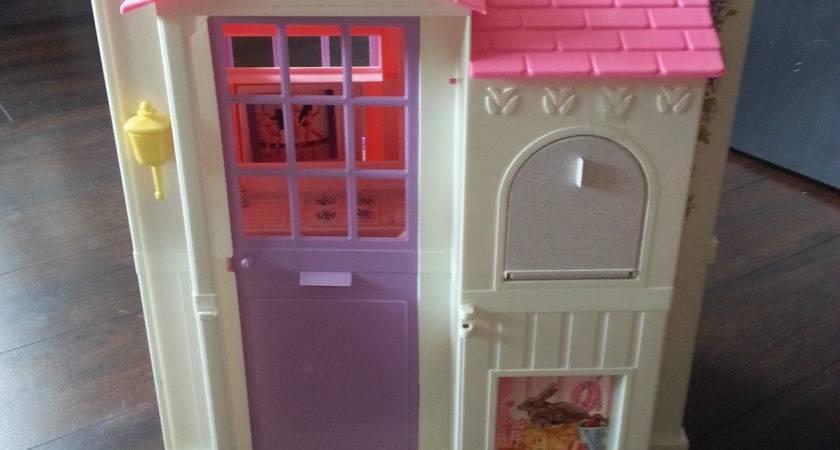 Vintage Barbie Fold Play Doll House Spray Painted