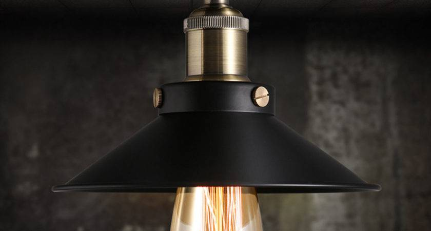 Vintage Black Ceiling Mount Light Chandelier Edison Lamp