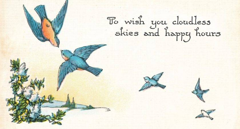 Vintage Bluebird Happiness Tattoo