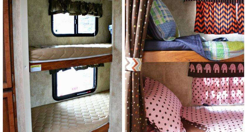 Vintage Dutch Girl Travel Trailer Makeover Part Bunk