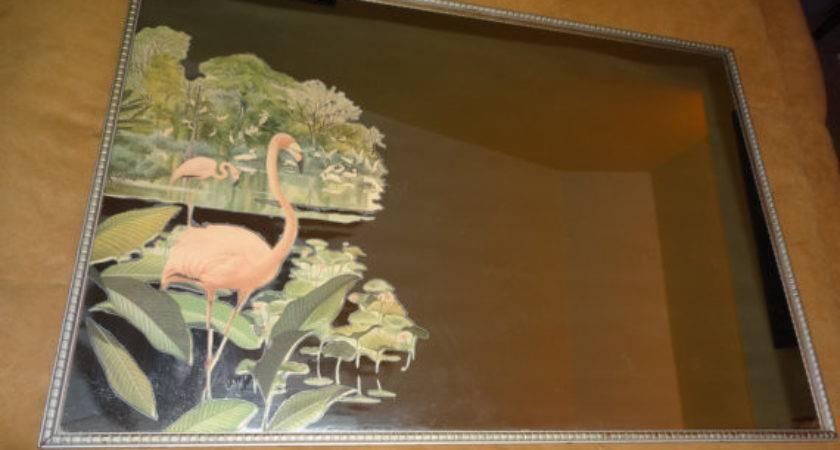 Vintage Flamingo Mirror Robert Stern