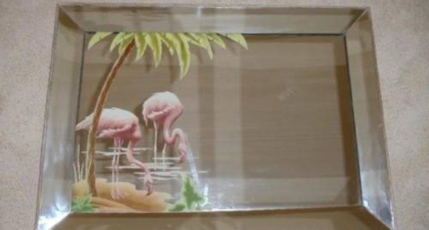 Vintage Flamingo Mirror United States