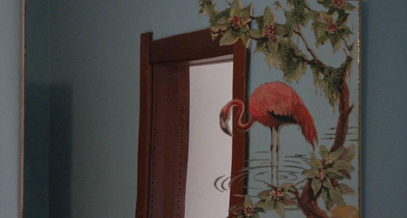 Vintage Flamingo Mirror
