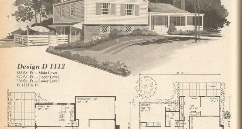 Vintage House Plans Multi Level Homes Part Antique