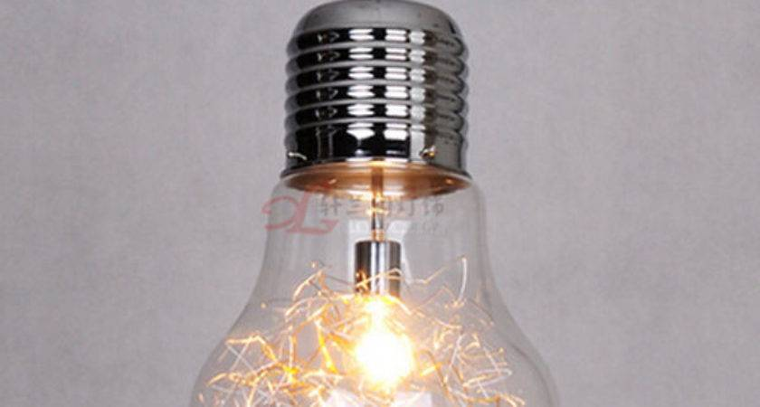 Vintage Industrial Diy Edison Bulb Style Glass Ceiling