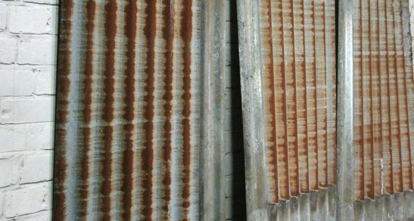 Vintage Industrial Rustic Corrugated Metal Cladding