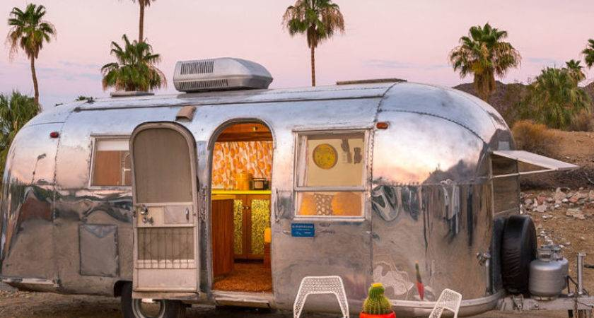 Vintage Palm Springs Airstream Remodeled Trailer