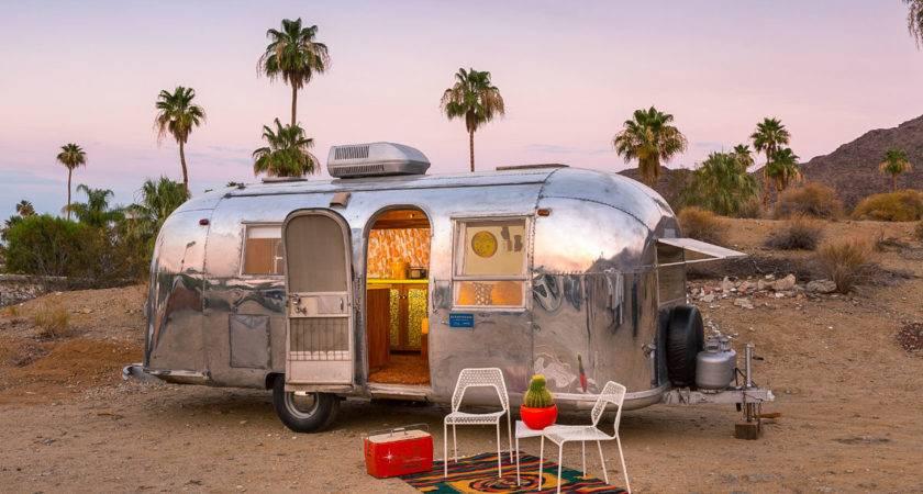 Vintage Palm Springs Airstream Remodeled Trailer