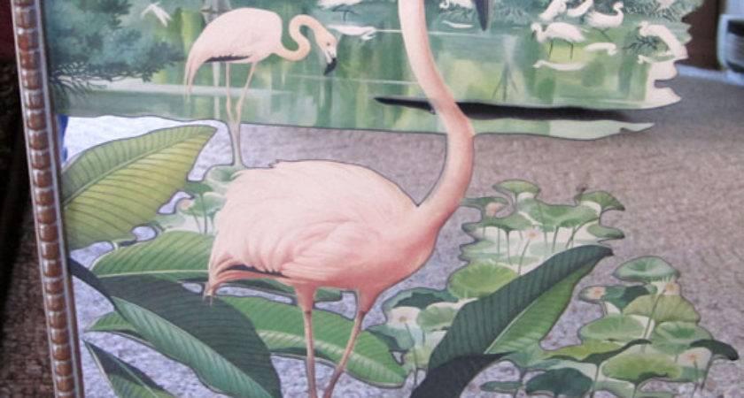 Vintage Pink Flamingo Mirror Wall Janesvintagetoo